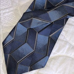 "Murano Italia Men's Tie 60"" - 100% Silk Blue"
